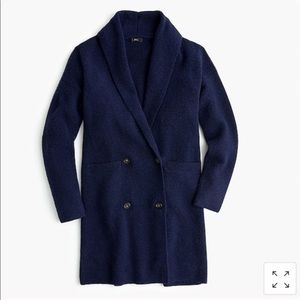 J. Crew double breasted cardigan coat